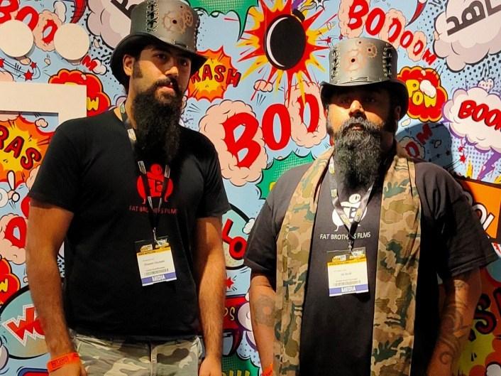 Director S A Zaidi (right) & Producer Ghanem Ghubash (left) at Comic Con MEFCC 2020